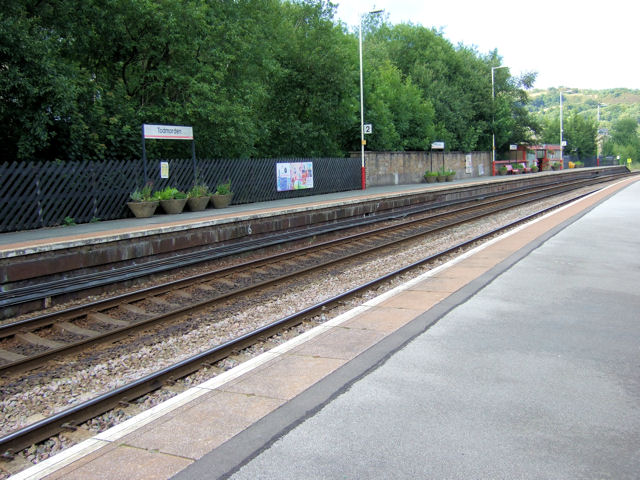 Todmorden Railway Station eastwards
