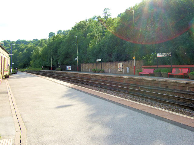 Todmorden Railway Station westwards