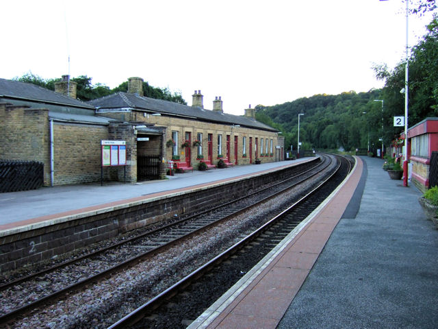 Todmorden Railway Station westwards