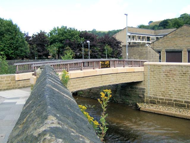 Footbridge over River Calder, Todmorden