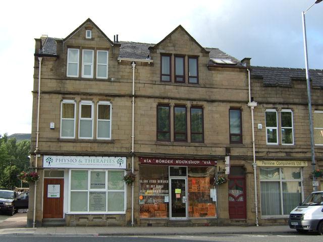 Todmorden - Halifax Road, shops