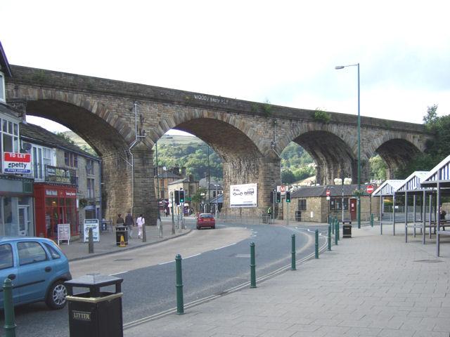 Todmorden - Railway Viaduct over Burnley Road