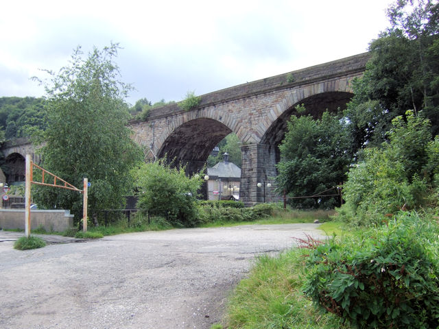 Todmorden - Railway Viaduct over Burnley Road, etc