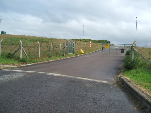 Entrance to Broom Hill Land-fill Site