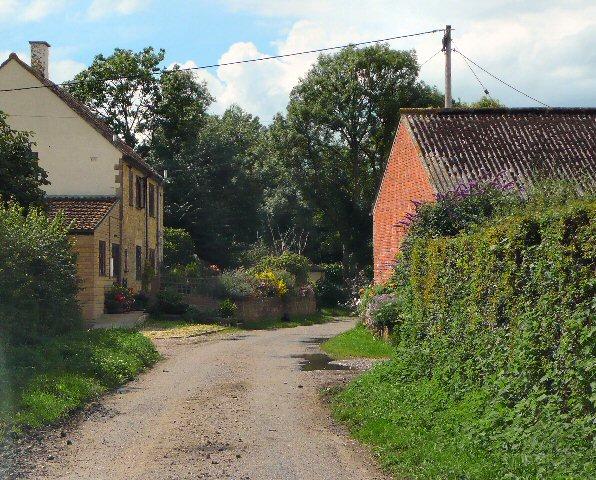 Lane past South Bradon Farm