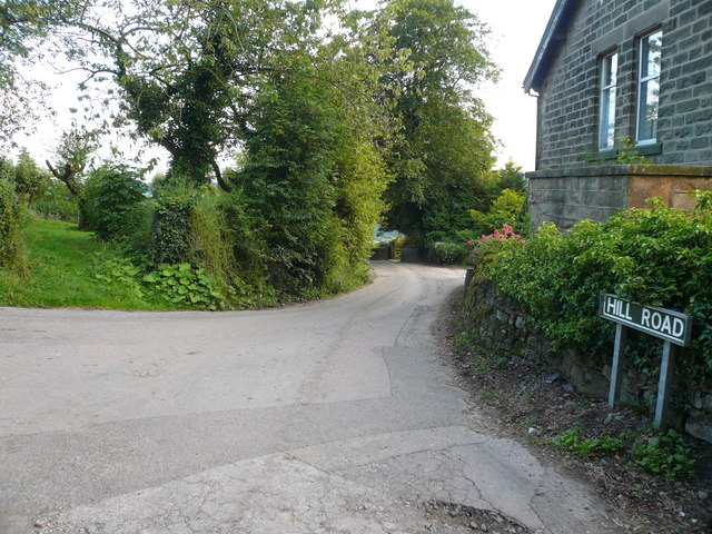 Ashover -Junction of Hilltop Road and Hill Road