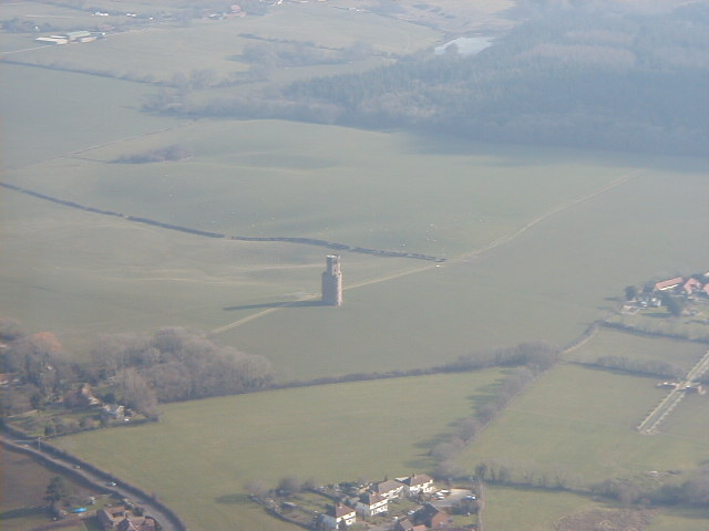 Horton Tower and surroundings from the air