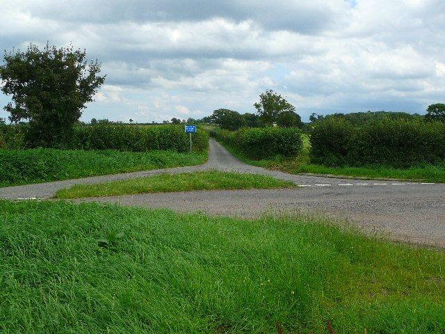 Cross roads near Southey Farm.