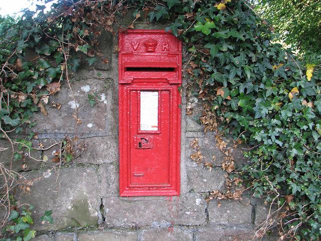 Trellech's Victorian postbox (1881)