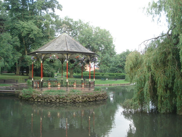 The bandstand in Gheluvelt Park