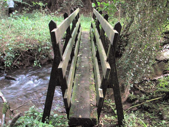 Footbridge over the Penarth Brook