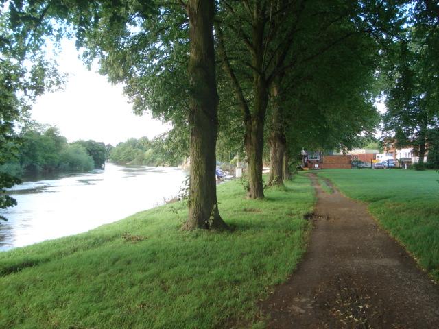 Riverside walk at Pitchcroft