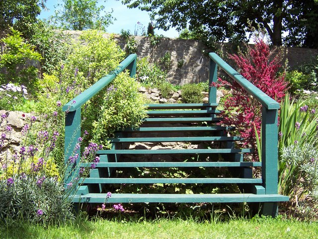 Garden Steps in Summer