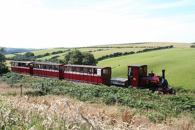 Martinhoe: train near Martinhoe Cross