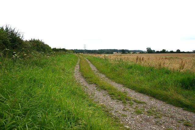 Track at Godwick Moor