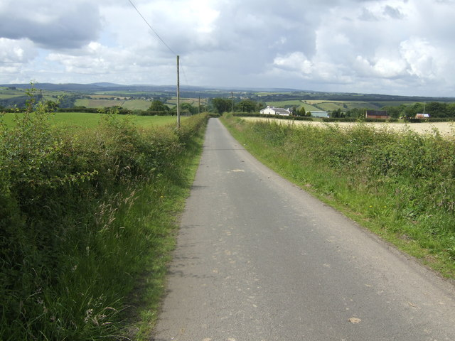 Lane above the Clyde valley