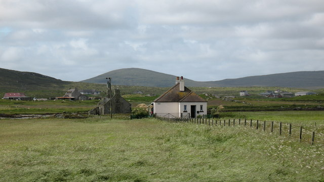 Cottages on the machair.
