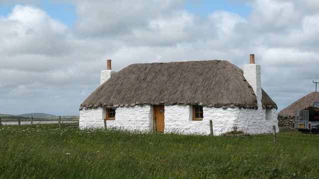 Restored cottage on North Uist