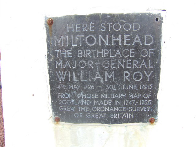 Inscription on the General Roy trig