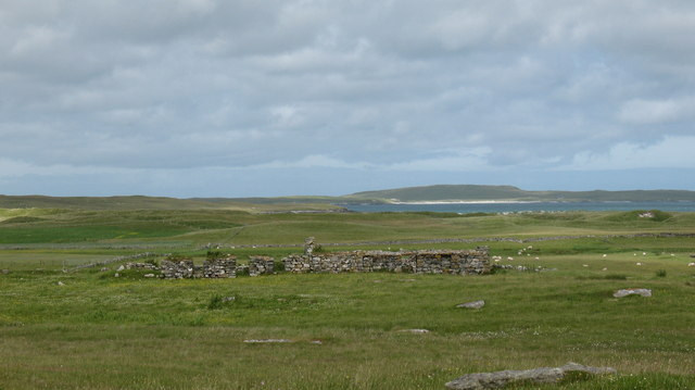 Ruin on the edge of the machair.