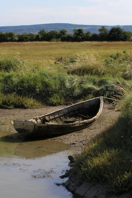 Derelict rowboat, near Creek Cottage, Woodside