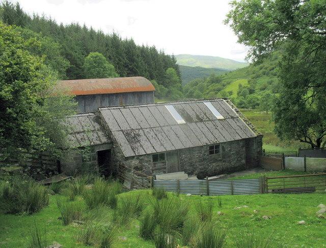 Farm buildings at Glan y Mynach