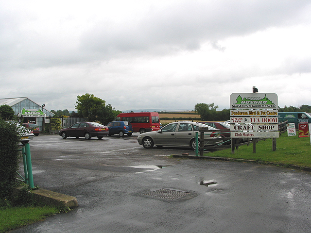 Entrance to nurseries and garden centre, Bamfurlong