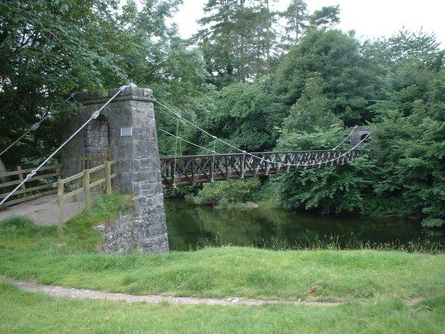 Footbridge over River Kent