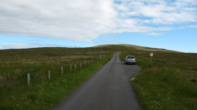 Road across the island - North Uist
