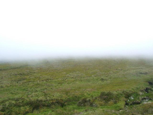 Fog falling on the moor