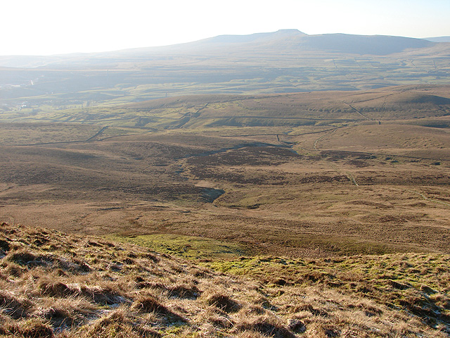 Looking westwards from the Pennine Way