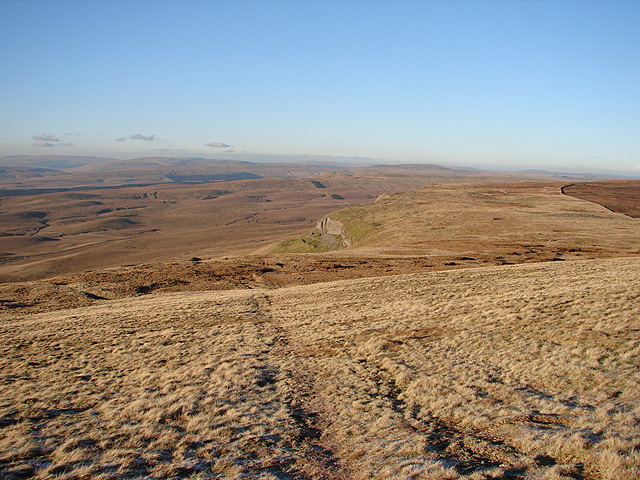 The Pennine Way near the summit of Pen-y-ghent