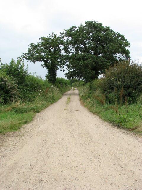 Farm track from Heath Road