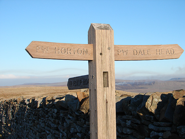 Finger Post at the summit of Pen-y-ghent