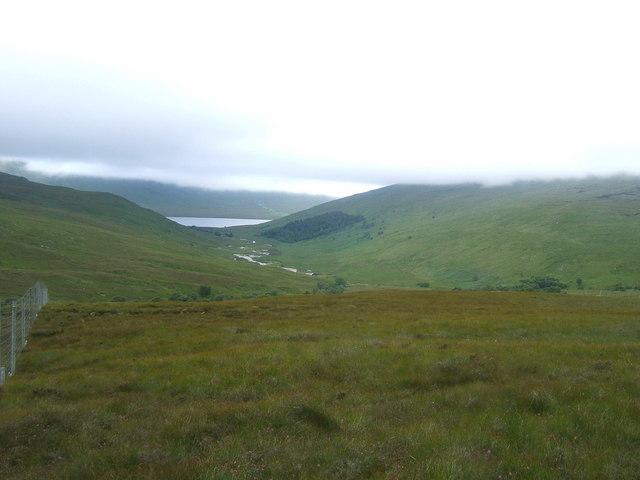 Descending towards Loch Choire