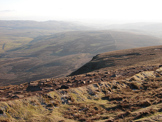 View from Pen-y-ghent summit