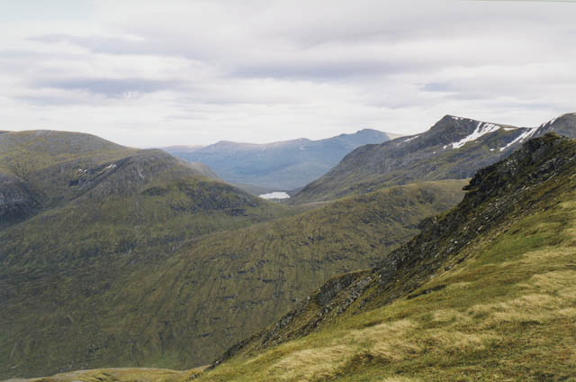 View south east from Sgurr nan Ceannaichean