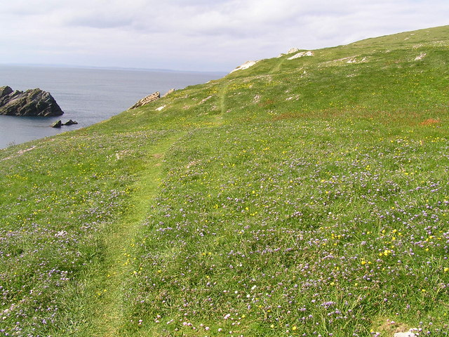 Cliff top path on St. Ninian's Isle