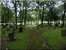 NZ1841 : Cemetery. Waterhouses. by Donald Brydon