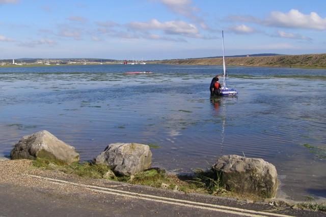 Dinghy on Mount Lake