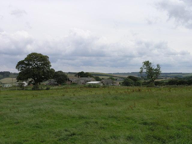 Field. Mamsteel Farm in the Distance.