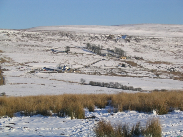 Cwm Tyswg near Rhymney - winter view