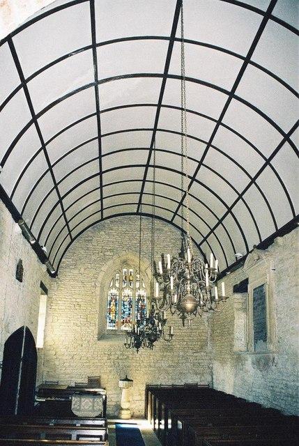 Fifehead Magdalen parish church: interior