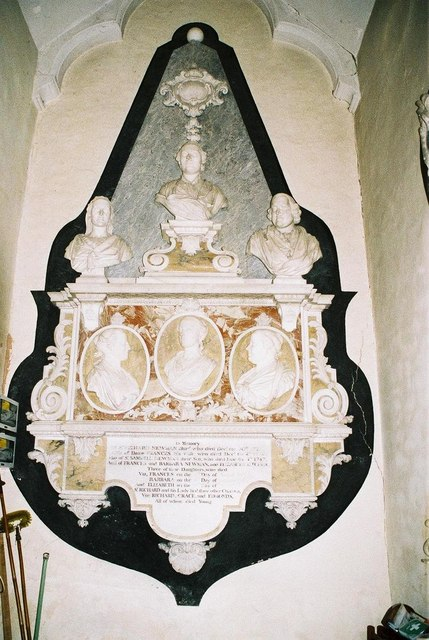 Fifehead Magdalen parish church: Newman family memorial