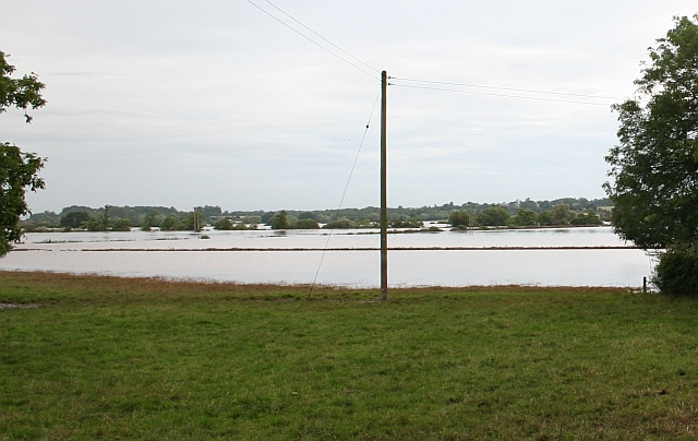 Flooded Fields Close to Bushley