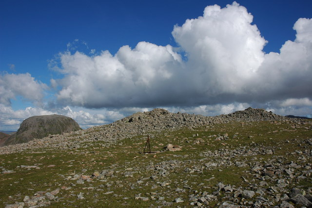 Great Gable viewed from near the summit of Kirk Fell