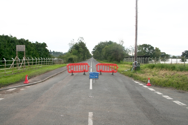 July 2007 Floods A438 to Tewkesbury Closed
