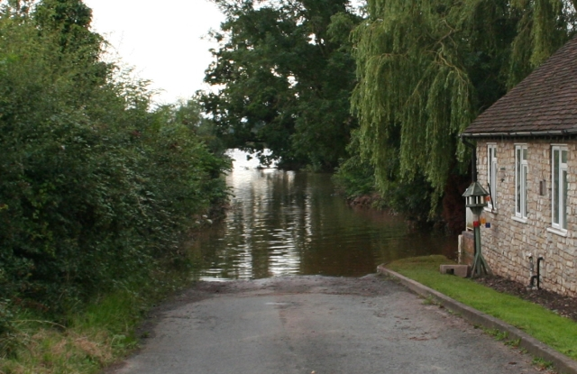 The Road to Upper Lode Flooded