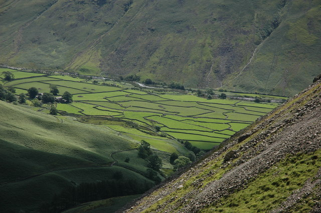 Dorehead Screes and the fields of Wasdale Head