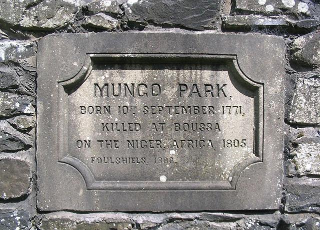 Mungo Park inscription